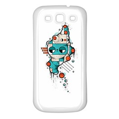Muscle Cat Samsung Galaxy S3 Back Case (white)