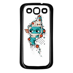 Muscle Cat Samsung Galaxy S3 Back Case (black)