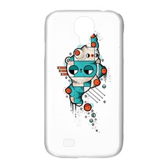 Muscle cat Samsung Galaxy S4 Classic Hardshell Case (PC+Silicone)