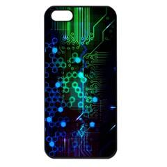 Circuit Board 2.0 Apple iPhone 5 Seamless Case (Black)