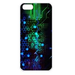 Circuit Board 2 0 Apple Iphone 5 Seamless Case (white)