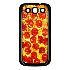 Pizza Samsung Galaxy S3 Back Case (Black)