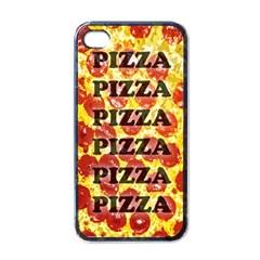 Pizza Pizza Pizza Pizza Apple iPhone 4 Case (Black)