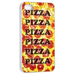 Pizza Pizza Pizza Pizza Apple iPhone 4/4s Seamless Case (White)