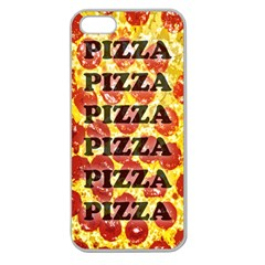 Pizza Pizza Pizza Pizza Apple Seamless iPhone 5 Case (Clear)
