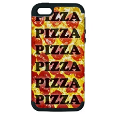 Pizza Pizza Pizza Pizza Apple Iphone 5 Hardshell Case (pc+silicone)
