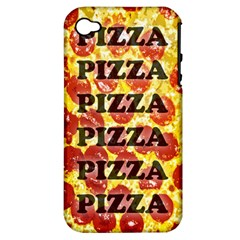Pizza Pizza Pizza Pizza Apple Iphone 4/4s Hardshell Case (pc+silicone)