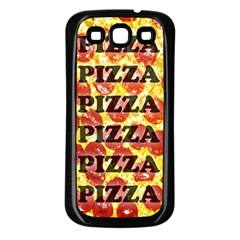 Pizza Pizza Pizza Pizza Samsung Galaxy S3 Back Case (black)