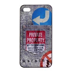 Warning Apple Iphone 4/4s Seamless Case (black)