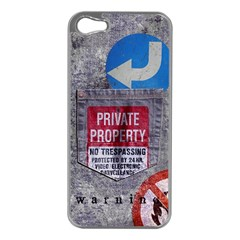 warning Apple iPhone 5 Case (Silver)