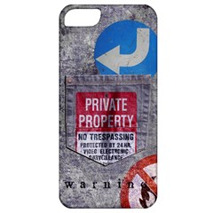 warning Apple iPhone 5 Classic Hardshell Case