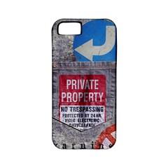 warning Apple iPhone 5 Classic Hardshell Case (PC+Silicone)