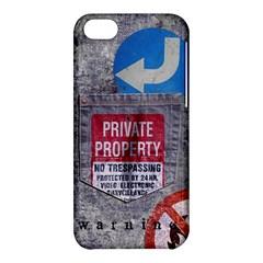 warning Apple iPhone 5C Hardshell Case