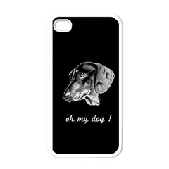 Oh My Dog ! Apple Iphone 4 Case (white)