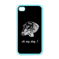 oh my dog ! Apple iPhone 4 Case (Color)
