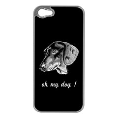 oh my dog ! Apple iPhone 5 Case (Silver)