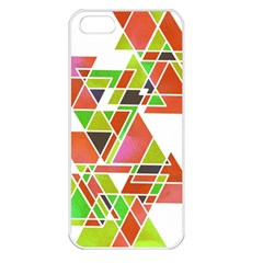 TRIANGLEZ Apple iPhone 5 Seamless Case (White)