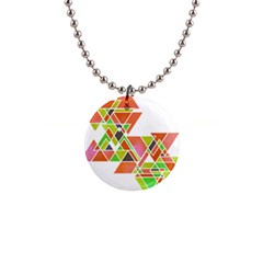 Triangle Pillow Button Necklace