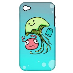 Ocean Party Apple iPhone 4/4S Hardshell Case (PC+Silicone)