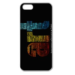 Art Apple Seamless iPhone 5 Case (Clear)