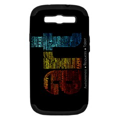 Art Samsung Galaxy S III Hardshell Case (PC+Silicone)