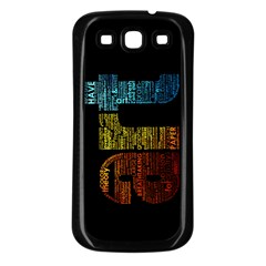 Art Samsung Galaxy S3 Back Case (black)