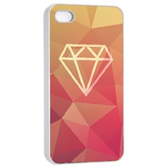 Diamond Apple iPhone 4/4s Seamless Case (White)