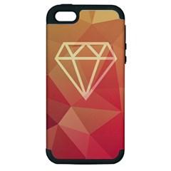Diamond Apple Iphone 5 Hardshell Case (pc+silicone)