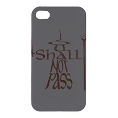 You Shall Not Pass Apple Iphone 4/4s Premium Hardshell Case