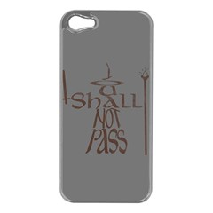 You shall not pass Apple iPhone 5 Case (Silver)