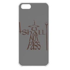 You shall not pass Apple iPhone 5 Seamless Case (White)