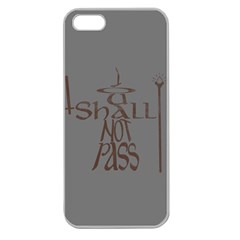 You Shall Not Pass Apple Seamless Iphone 5 Case (clear)