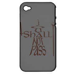 You shall not pass Apple iPhone 4/4S Hardshell Case (PC+Silicone)