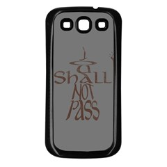 You shall not pass Samsung Galaxy S3 Back Case (Black)