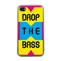 DROP THE BASS Apple iPhone 4 Case (Clear)