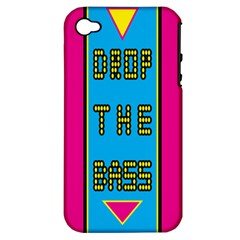 Bass Dropping Apple iPhone 4/4S Hardshell Case (PC+Silicone)