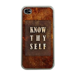 Know Thyself Apple Iphone 4 Case (clear)