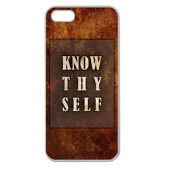 Know Thyself Apple Seamless iPhone 5 Case (Clear)