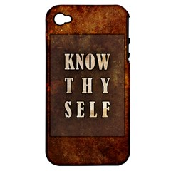 Know Thyself Apple Iphone 4/4s Hardshell Case (pc+silicone)