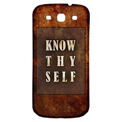 Know Thyself Samsung Galaxy S3 S Iii Classic Hardshell Back Case