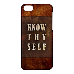 Know Thyself Apple Iphone 5c Hardshell Case
