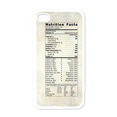 Phone Nutrition Apple iPhone 4 Case (White)
