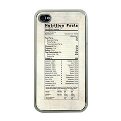 Phone Nutrition Apple iPhone 4 Case (Clear)
