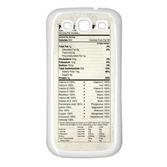 Phone Nutrition Samsung Galaxy S3 Back Case (White)
