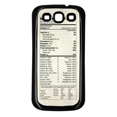 Phone Nutrition Samsung Galaxy S3 Back Case (black)