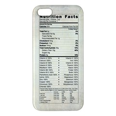 Phone Nutrition iPhone 5S Premium Hardshell Case