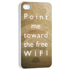 Free WIFI Apple iPhone 4/4s Seamless Case (White)