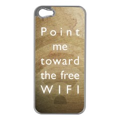 Free Wifi Apple Iphone 5 Case (silver)