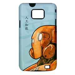 Robot Dreamer Samsung Galaxy S II Hardshell Case (PC+Silicone)