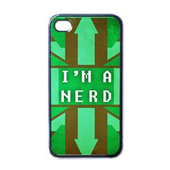 I m A Nerd Apple Iphone 4 Case (black)